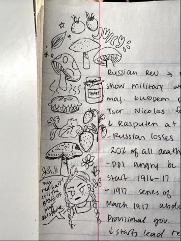 AP world doodles, Hannah Yu, Grade 10