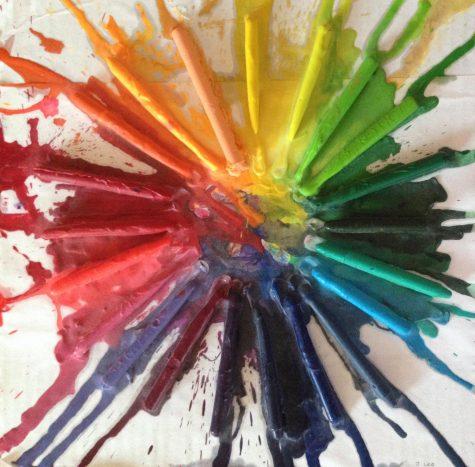 Radial Rainbow Crayon Art