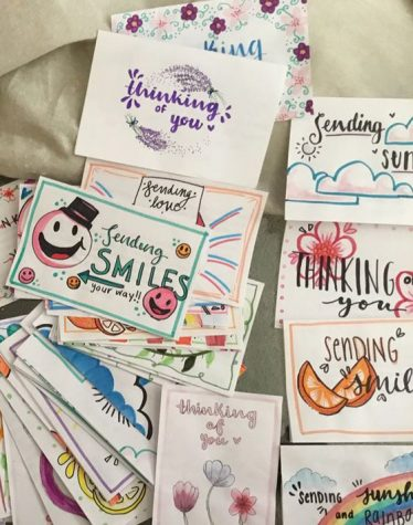 These homemade cards were created as part of St. John Neumann Catholic High School project in Naples in April 2020. Similar cards have been created to be delivered to nursing homes in the Bradenton area by parishioners of Ss. Peter and Paul the Apostles Parish.