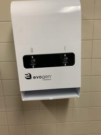 Dispenser at Shaker High School